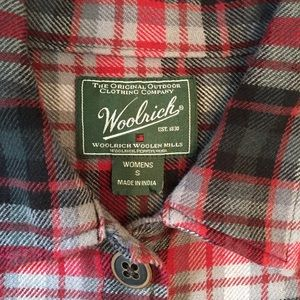 Woolrich red and black flannel shirt.